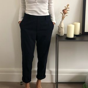 Uniqlo Navy Cigarette Trousers